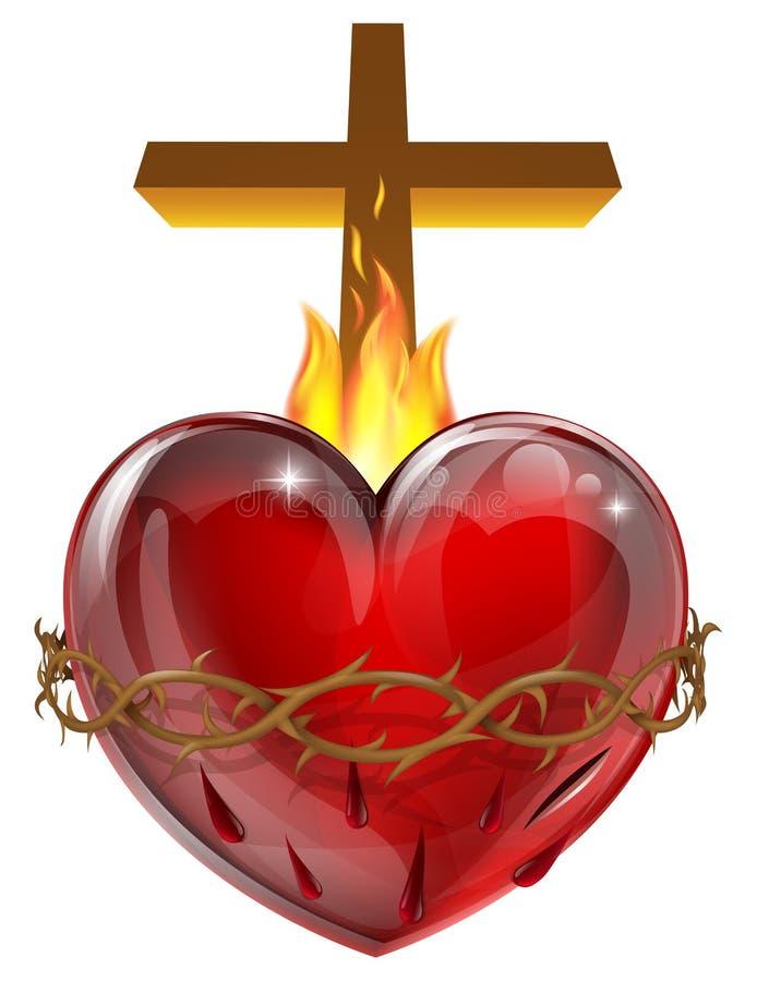 Coeur sacré illustration de vecteur