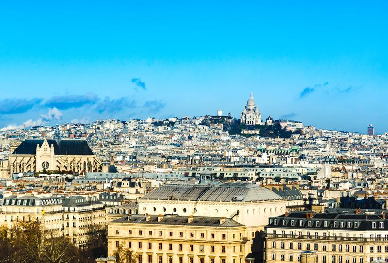 Coeur sacré de basilique de Montmartre et de Sacre Coeur de Paris photos libres de droits