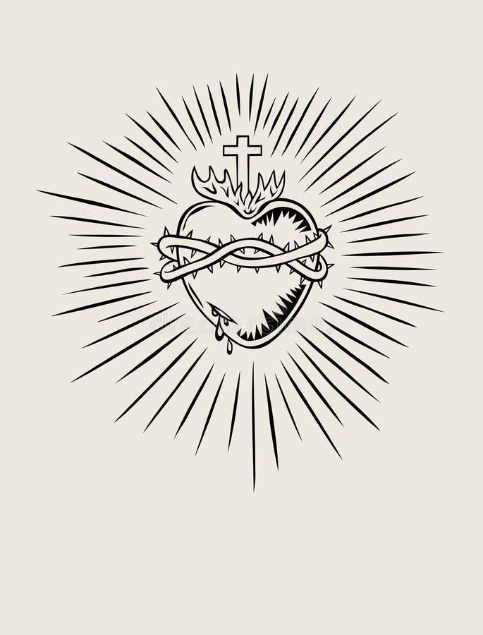 Coeur sacré de Jésus illustration libre de droits