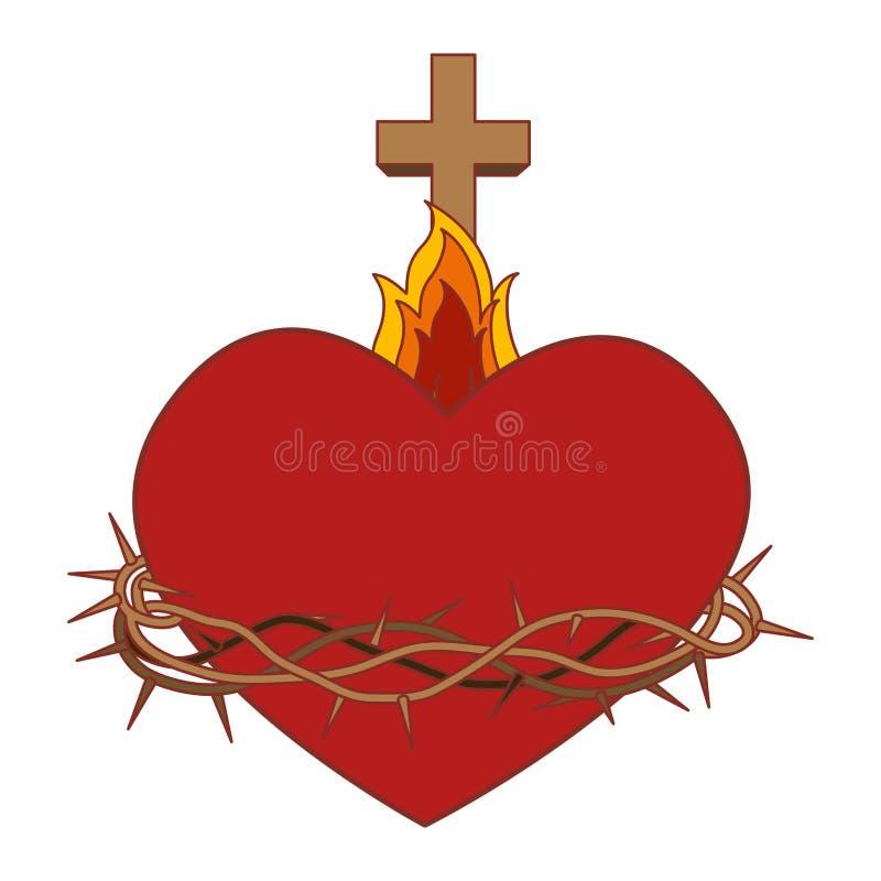 Coeur sacré de Jésus illustration stock