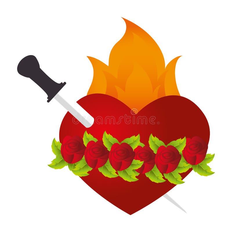 Coeur sacré de Jésus illustration de vecteur
