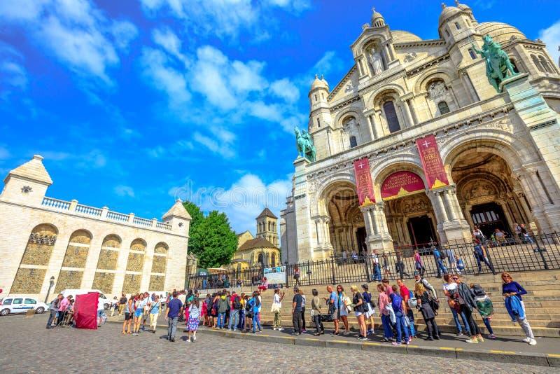 Coeur sacré Montmartre photos libres de droits