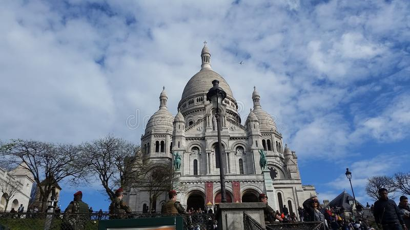 coeur巴黎sacre 免版税库存照片