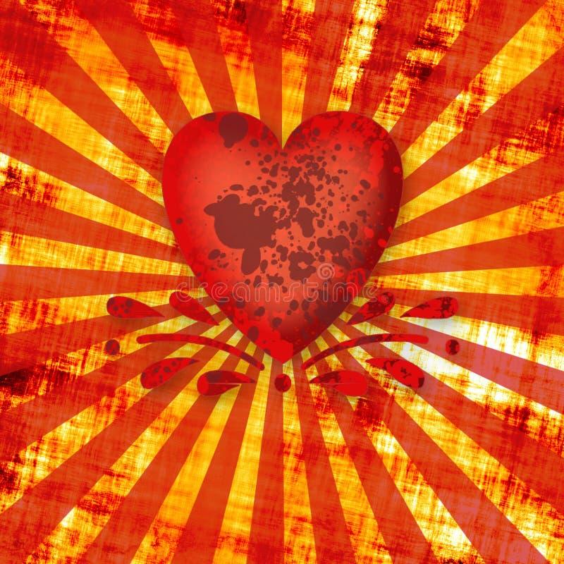 Coeur sale illustration de vecteur