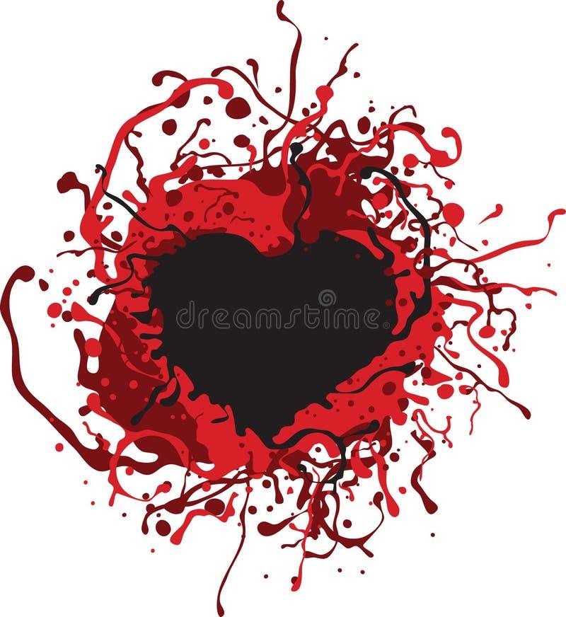 Coeur sanglant illustration stock