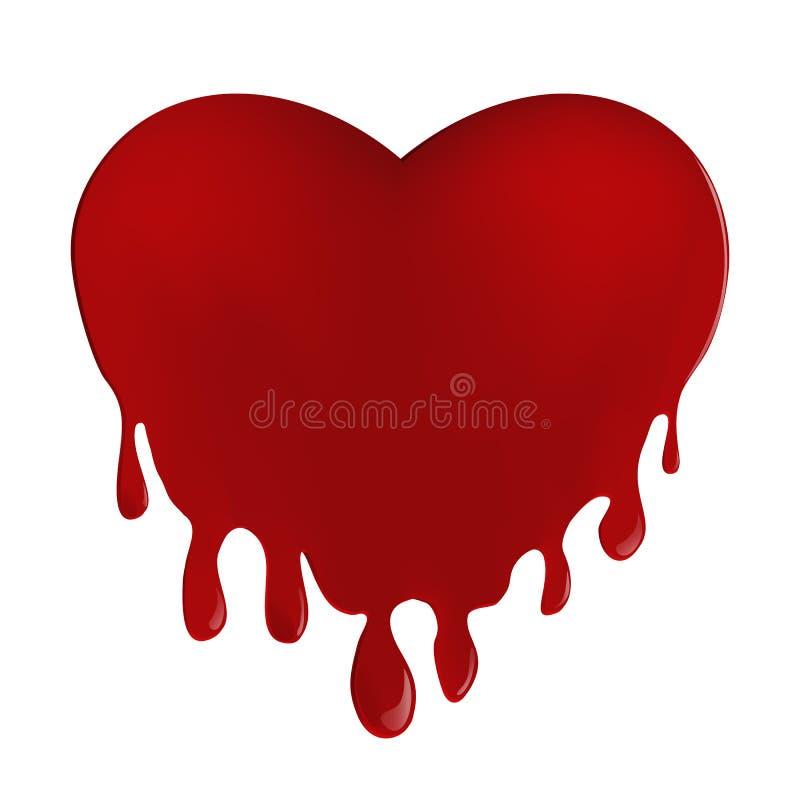 Coeur sanglant Illustration de vecteur sur un fond blanc illustration libre de droits