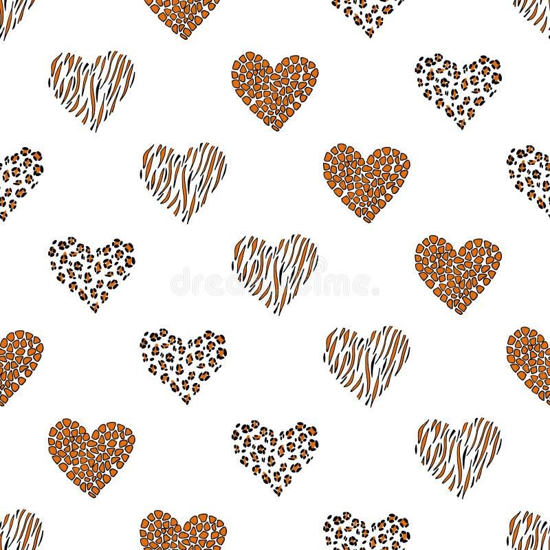 Coeur sans couture de fond de modèle Vecteur illustration libre de droits