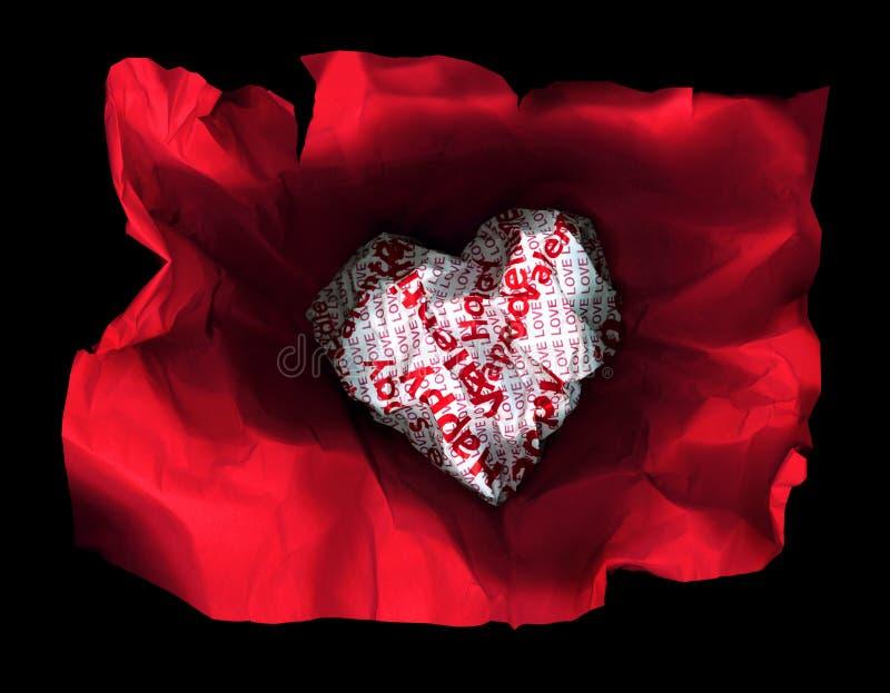 Coeur sexy de rouge de papier de valentines photographie stock
