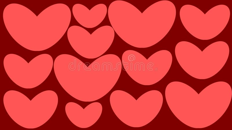 Coeur Stickers illustration de vecteur