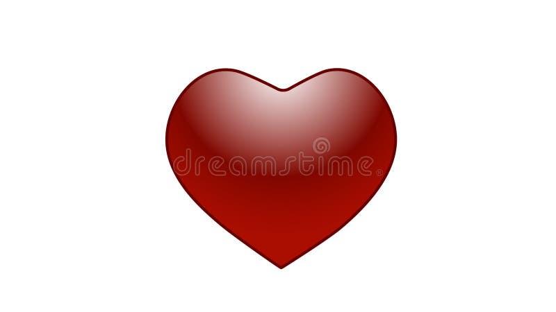 Coeur stupéfiant d'écarlate illustration libre de droits