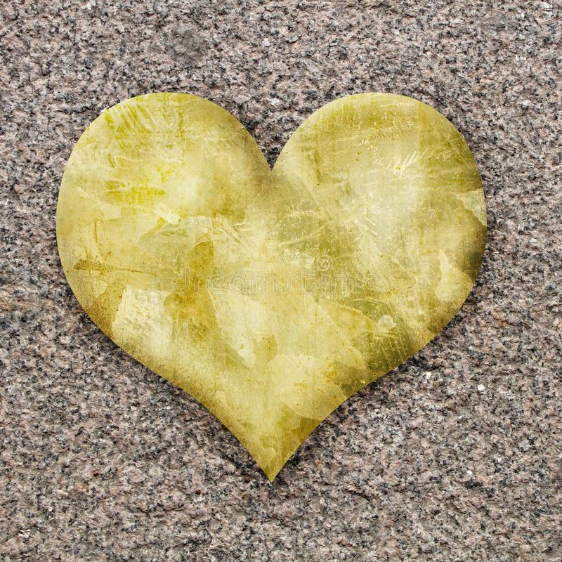 Coeur sur granit images stock