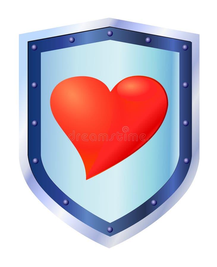 Coeur sur l'écran protecteur illustration libre de droits