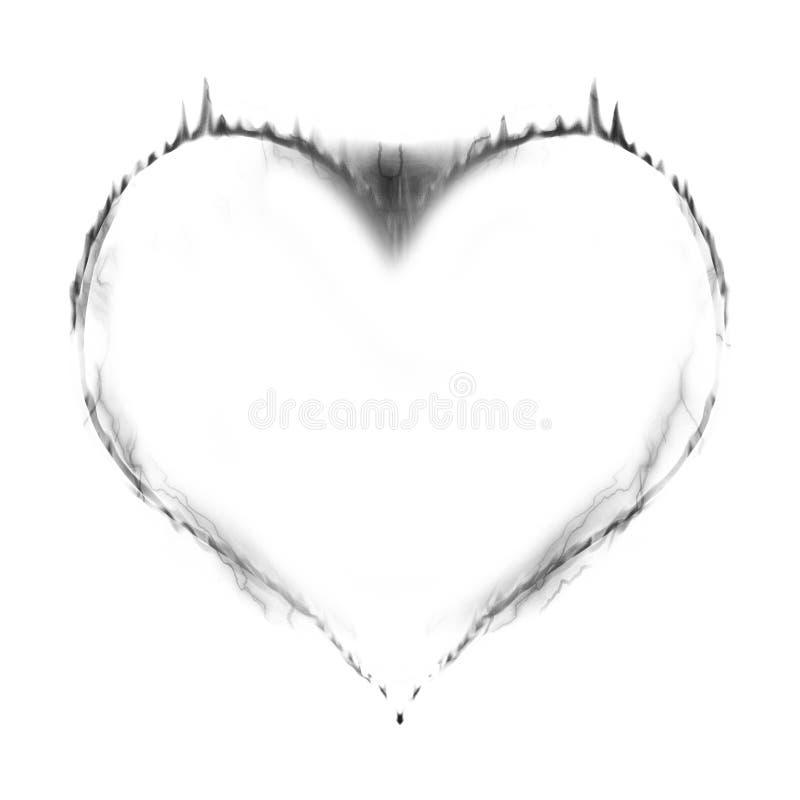 Coeur sur l'incendie illustration de vecteur