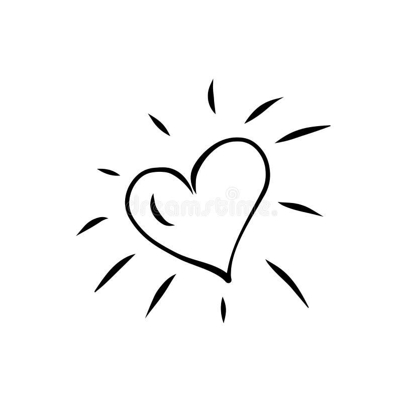 Coeur sur le fond blanc, vecteur illustration libre de droits