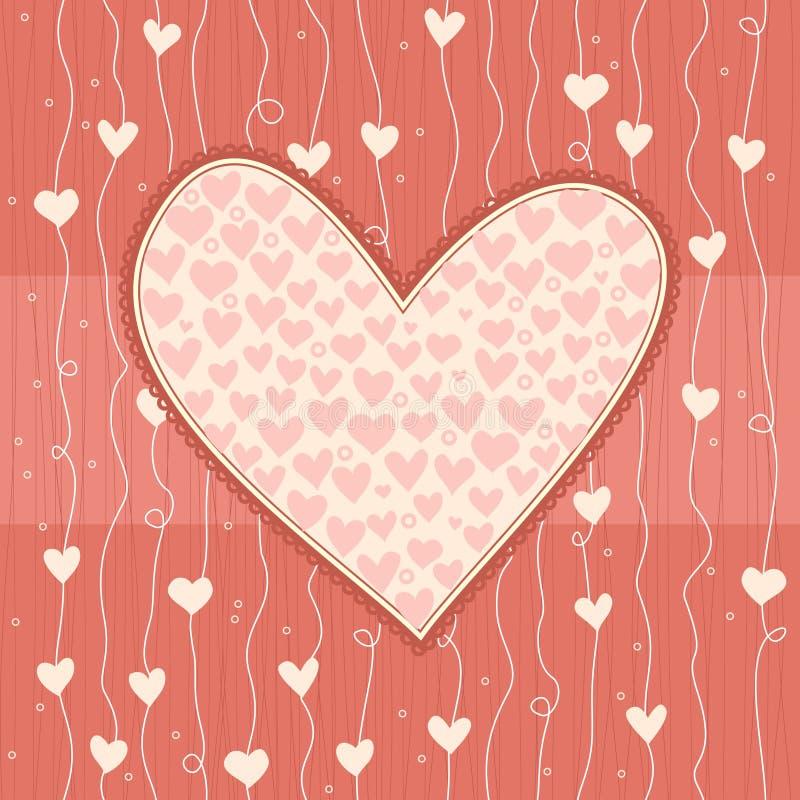 Coeur sur le fond sans joint d'amour illustration de vecteur
