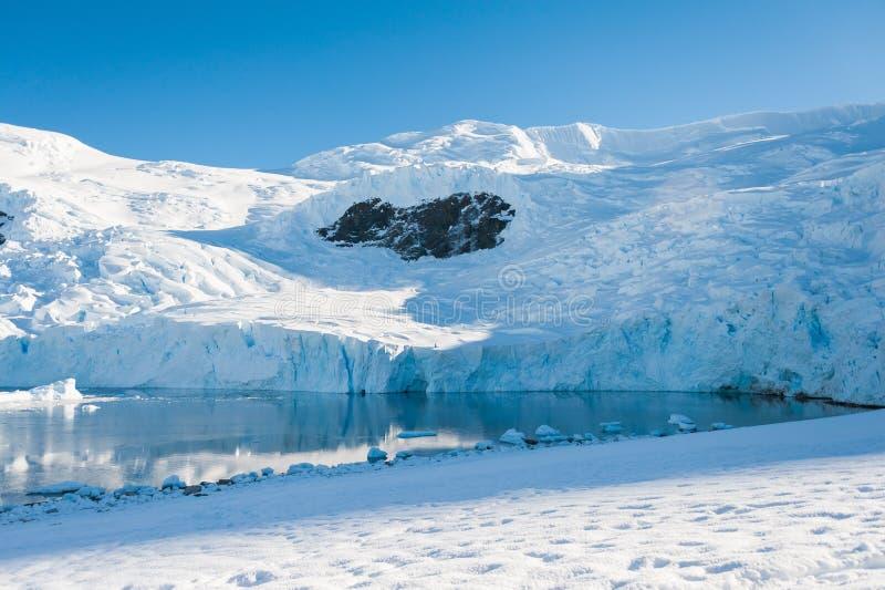 Coeur sur les montagnes, Antarctique images stock