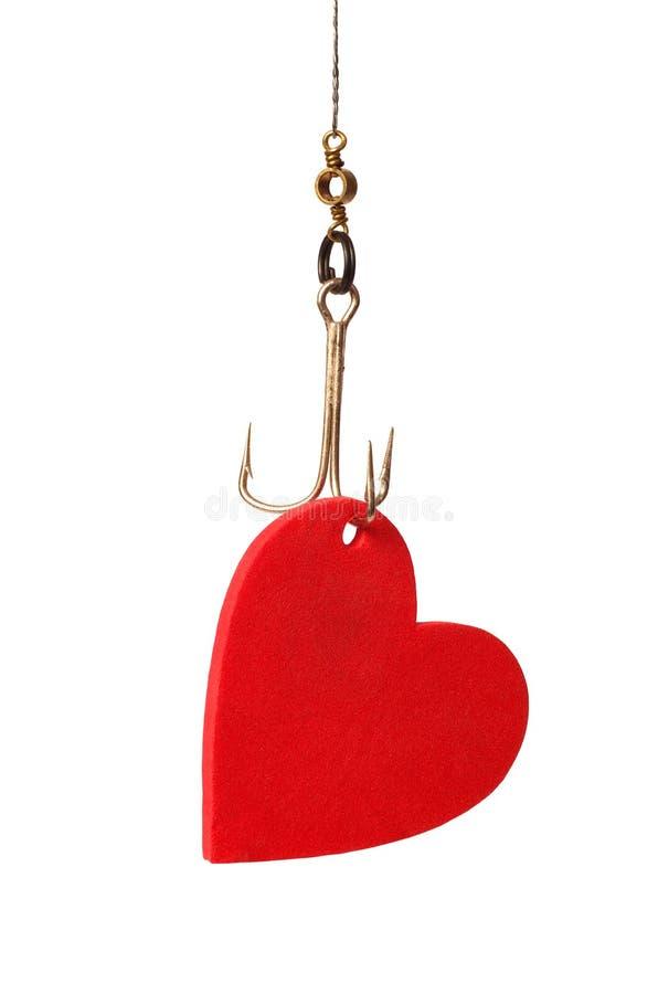 Coeur sur un crochet images stock