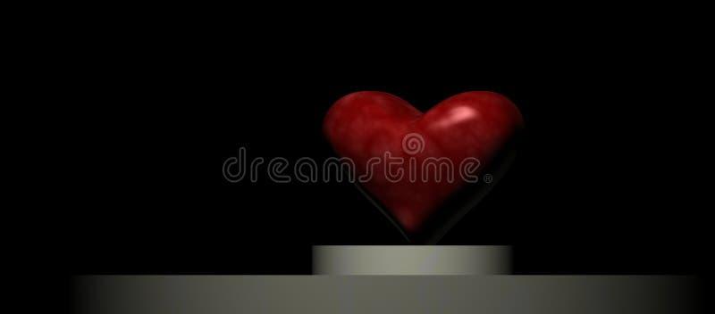 Coeur sur un podiume images libres de droits