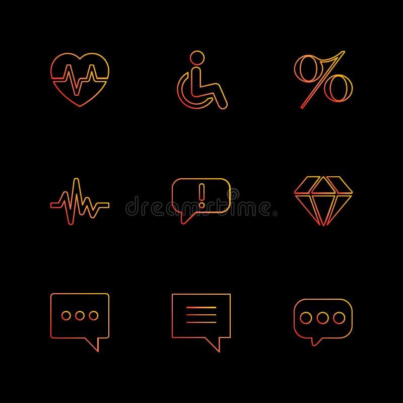 coeur, taux, handicap, pourcentage, ecg, message, diamant, illustration de vecteur