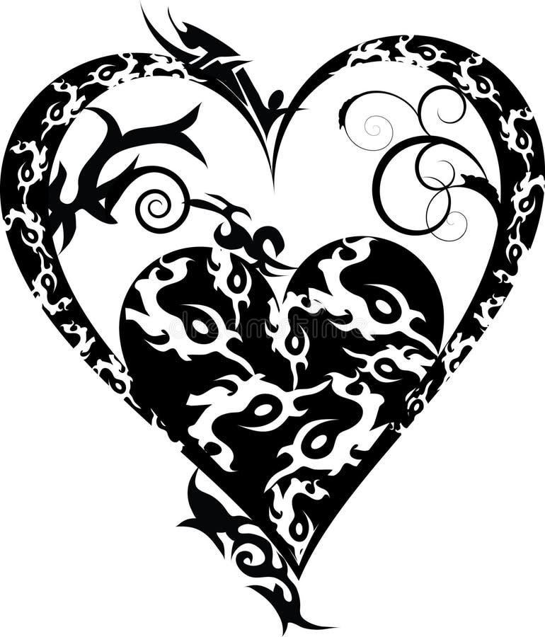 coeur tribal de tatouage photographie stock image 22812772. Black Bedroom Furniture Sets. Home Design Ideas