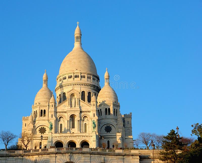 Coeur van Sacre bij zonsondergang, Parijs royalty-vrije stock foto's