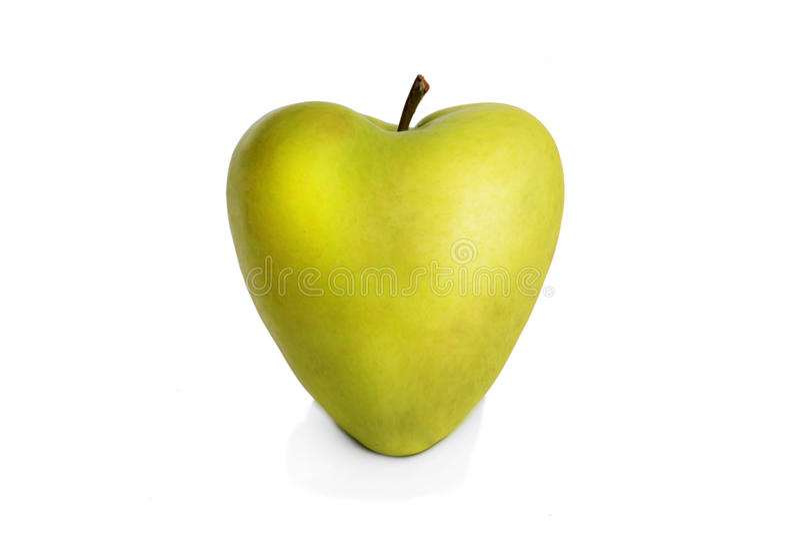 Coeur vert frais de pomme image stock