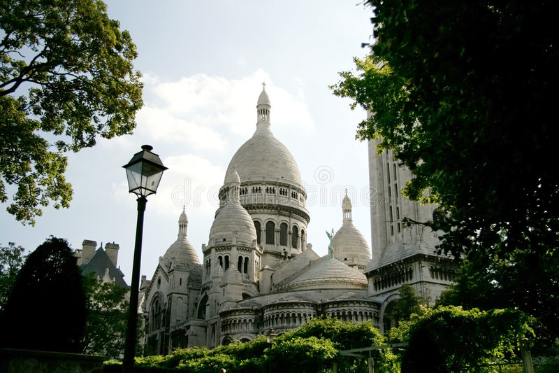 coeurfrance paris sacre arkivbilder