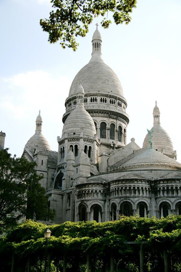 coeurfrance paris sacre royaltyfria bilder