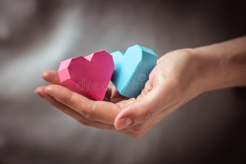 Coeurs à disposition image stock