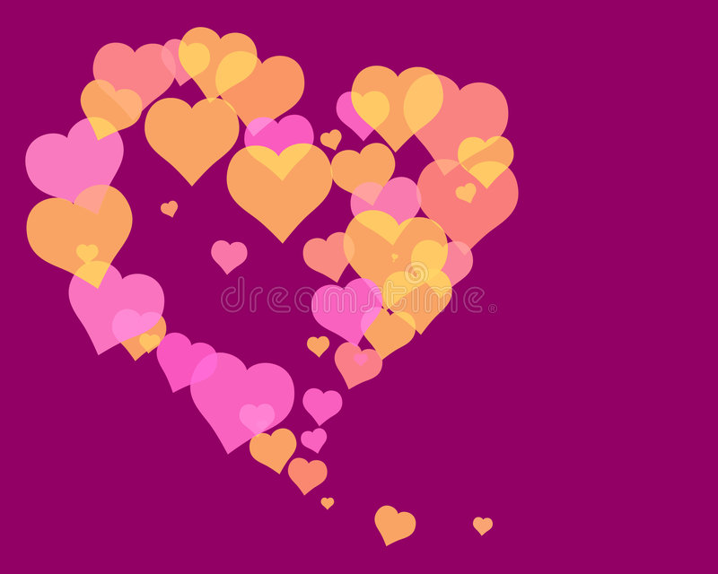 Coeurs 2 d'amour illustration stock