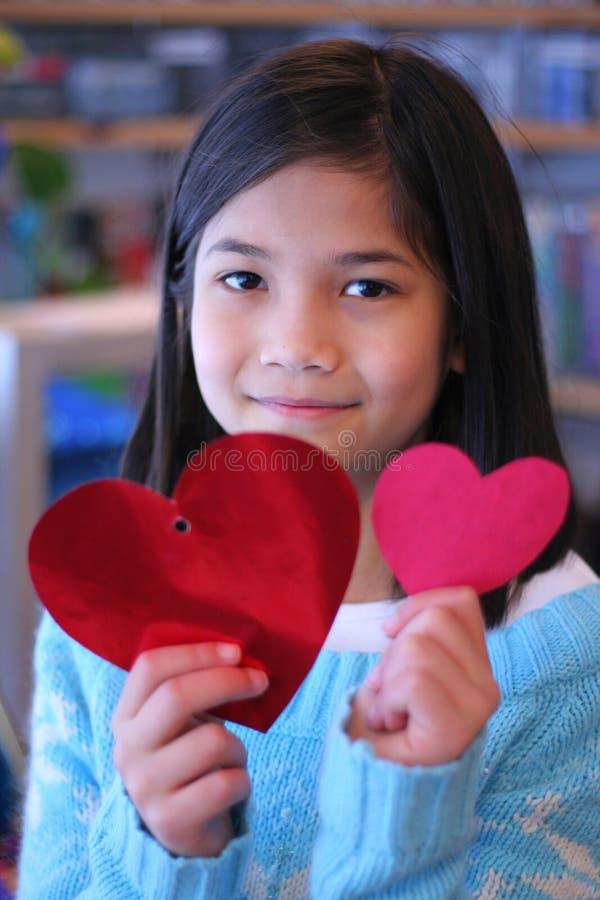 Coeurs 3 de Valentine image libre de droits