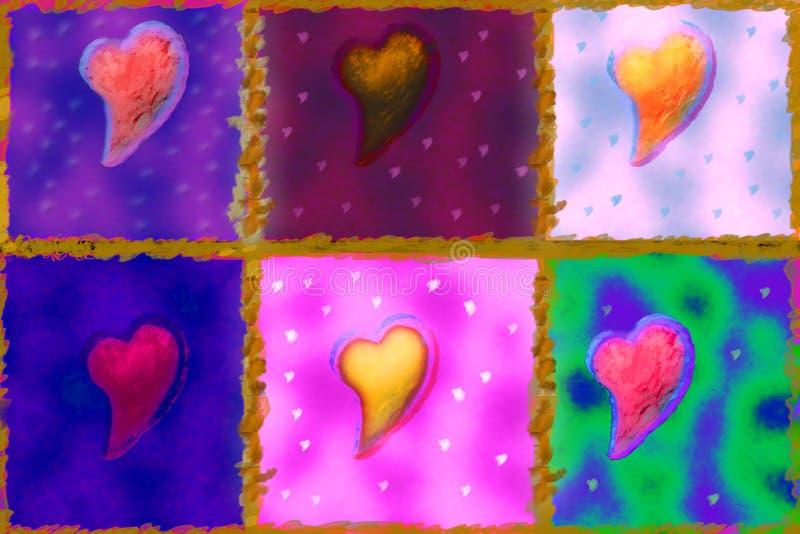 Coeurs illustration de vecteur