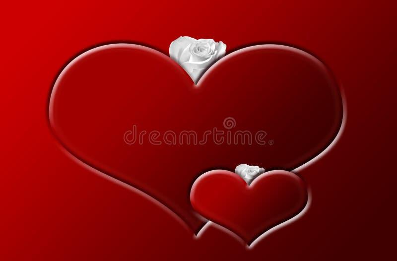 Coeurs A illustration de vecteur