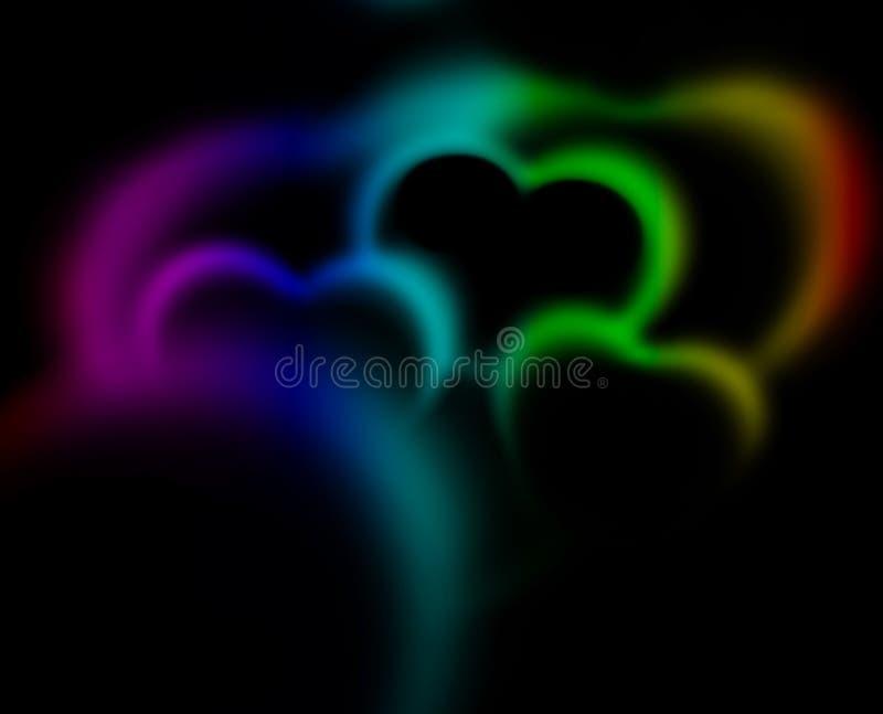 Coeurs abstraits photos stock