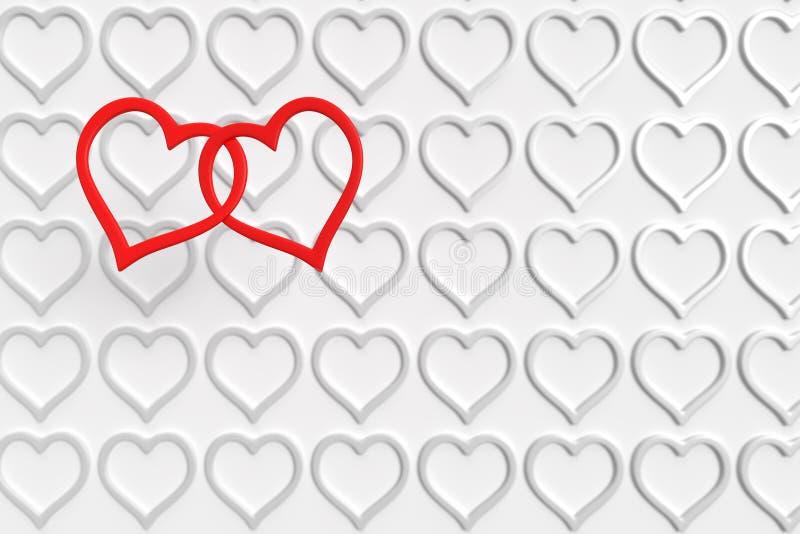 Coeurs au-dessus des coeurs illustration libre de droits