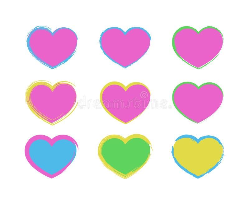 Coeurs avec les bords d?chir illustration libre de droits