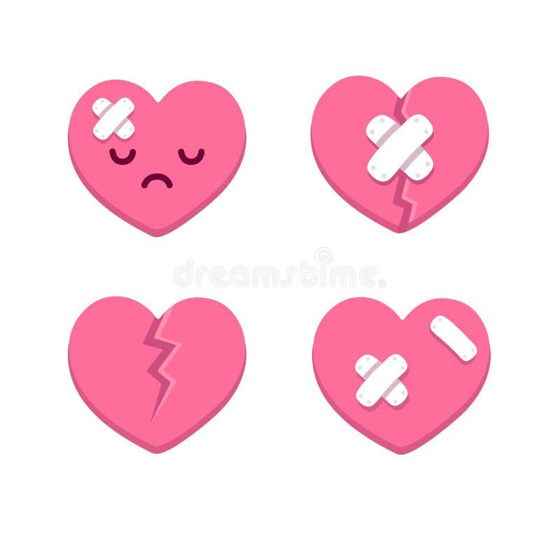 Coeurs cassés illustration libre de droits