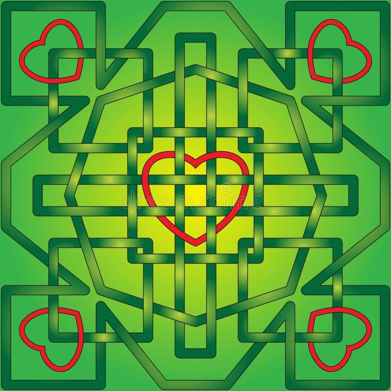 Coeurs celtiques de noeud illustration de vecteur