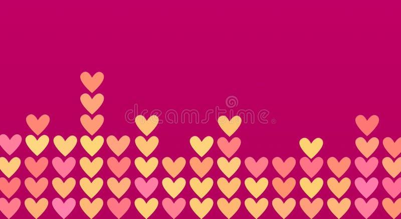 Coeurs colorés dans une mosaïque illustration libre de droits