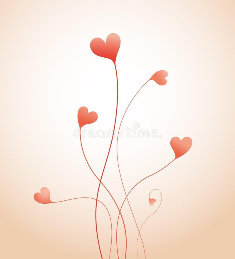 Coeurs croissants illustration libre de droits