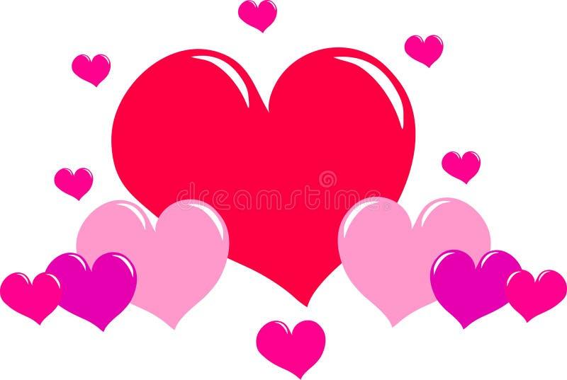 Coeurs d'amour illustration de vecteur