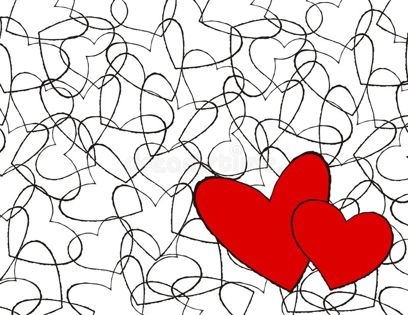 Coeurs d'amour illustration stock
