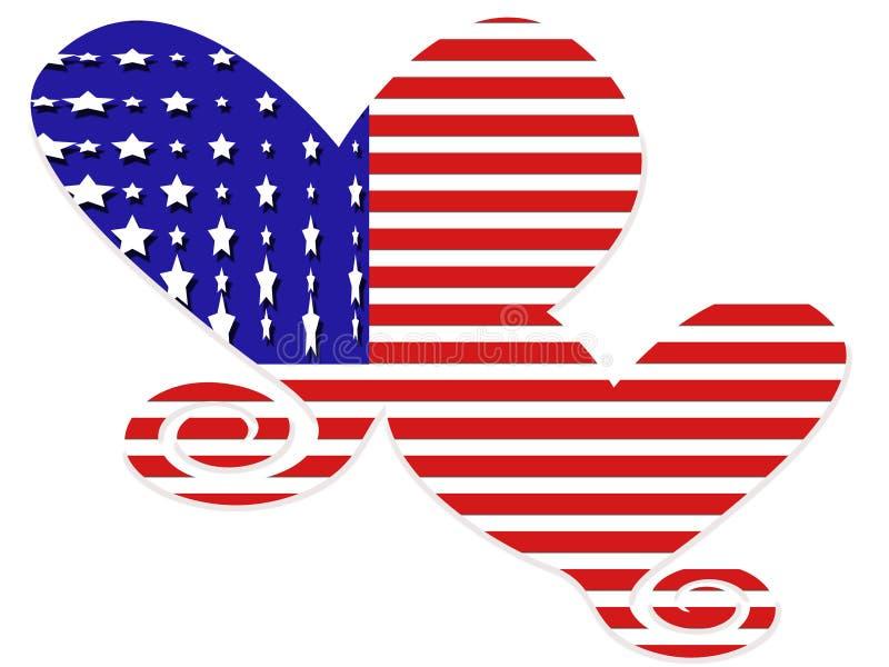 Coeurs D Indicateur Américain Photos stock