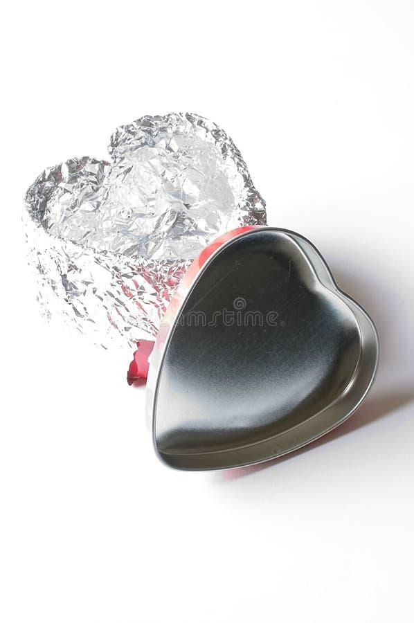 Coeurs de bidon images stock