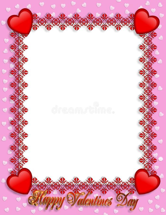Coeurs de cadre de jour de Valentines illustration stock
