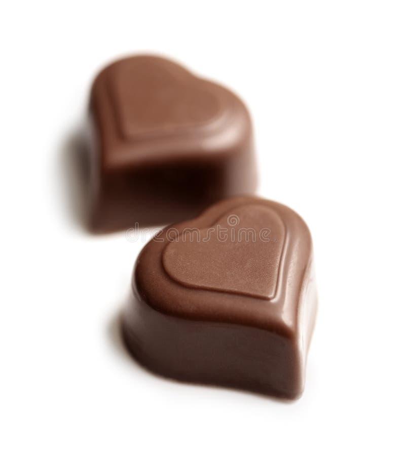 Coeurs de chocolat photos libres de droits