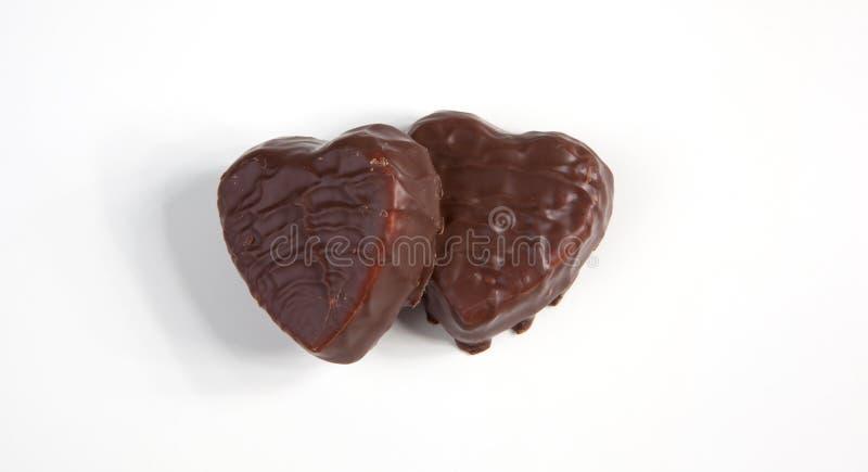 Coeurs de Chocolated photographie stock libre de droits