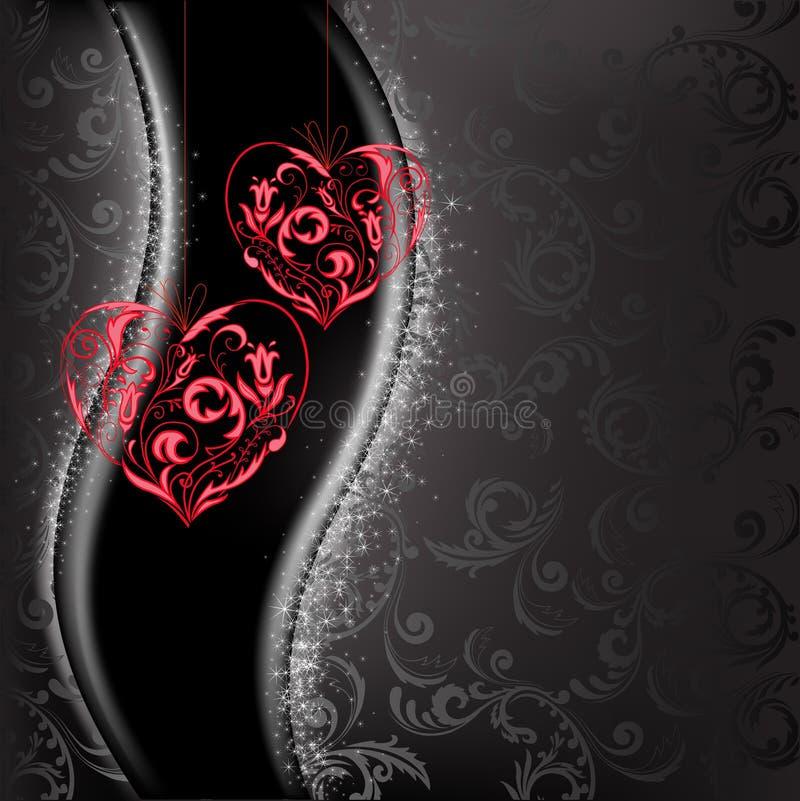 Coeurs de dentelle illustration de vecteur