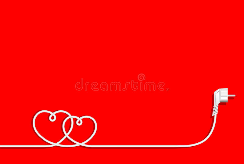 Coeurs de fil électrique illustration de vecteur