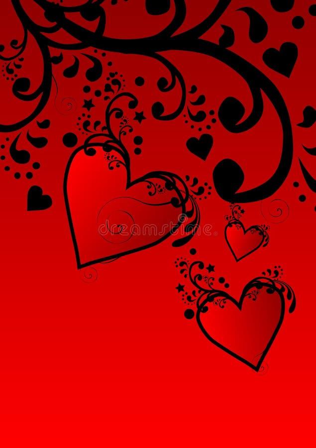 Coeurs de fleur illustration de vecteur